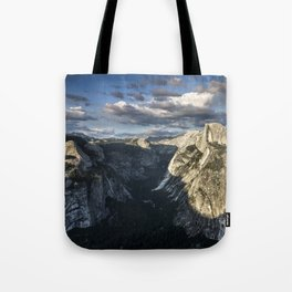 Yosemite Valley And Last Light On Half Dome   9-14-14 Tote Bag