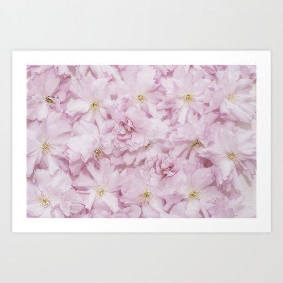 Sakura- cherryblossoms pattern Art Print