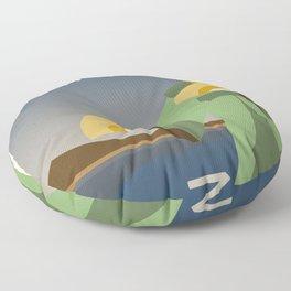 Kyoshi Island Travel Poster Floor Pillow