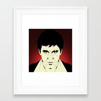 scarface Framed Art Prints featuring Scarface by Renan Lacerda