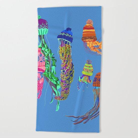 Cool Jellyfish Beach Towel