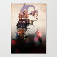 lindsay lohan Canvas Prints featuring LA - LOHAN by Tiaguh