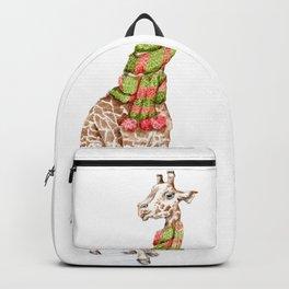 Giraffe in a Scarf Backpack