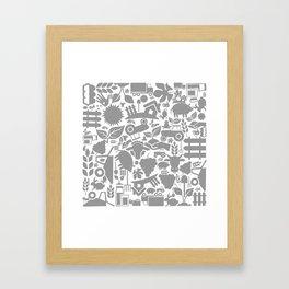 Background agriculture Framed Art Print