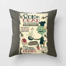 The Wok In Dead (v.2) Throw Pillow