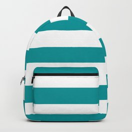 Horizontal Stripes Pattern: Teal Backpack