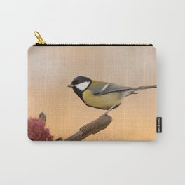 Songbird (Great Tit) on Autumn Day #decor #society6 #buyart Carry-All Pouch