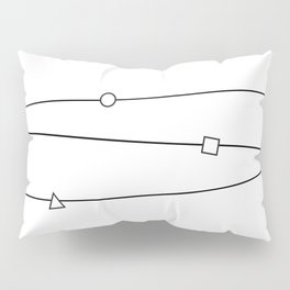 Lines and geometric shapes, simple Pillow Sham