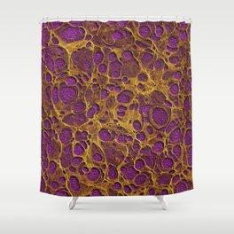 Dark Bizantium Gold Marble 02 Shower Curtain