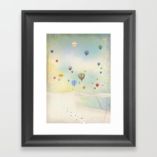 balloon day Framed Art Print