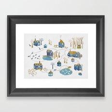 BLUE VILLAGE Framed Art Print