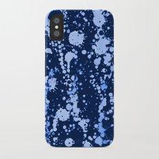 Splatter Blue iPhone X Slim Case