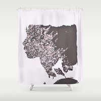 blush Shower Curtains featuring Blush by Jane Lacey Smith