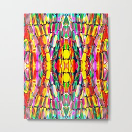 New Watermelon Sugarcane Pattern Metal Print