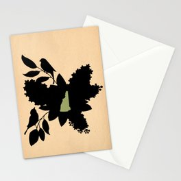 New Hampshire - State Papercut Print Stationery Cards