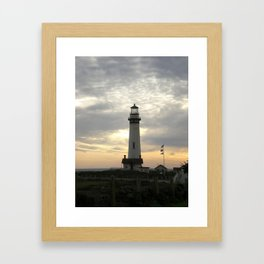 Lighthouse at Sunset Framed Art Print