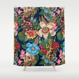 Lizzards and Skulls Shower Curtain