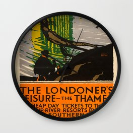 The Londoners Leisure Vintage Travel Poster Wall Clock