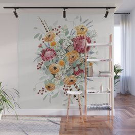 Fall Protea Bouquet Wall Mural
