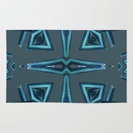 Blue Kaleido Palm Rug