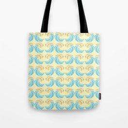 Trippy Wave Pattern Tote Bag