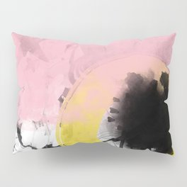 Pink and Yellow abstract artwork Pillow Sham