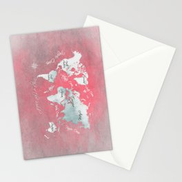 world map 143 red white #worldmap #map Stationery Cards