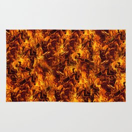 Fire and Flames Pattern Rug