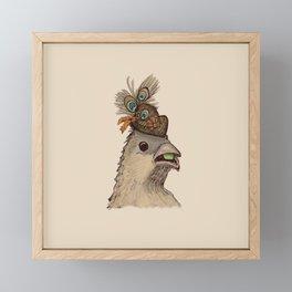Bird in Hat 3 Framed Mini Art Print