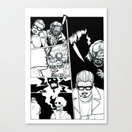 Sick of Crime Canvas Print