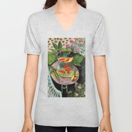 Henri Matisse Goldfish 1911, Goldfishes Artwork, Men, Women, Youth Unisex V-Neck