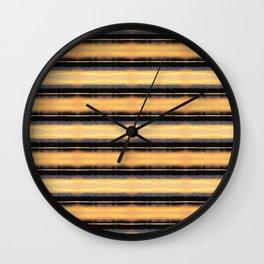 166 - Sunset Stripes design Wall Clock