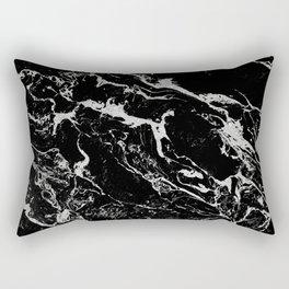 Modern silver black marble pattern Rectangular Pillow