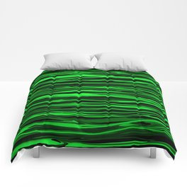 Lime Green and Black Stripes Comforters