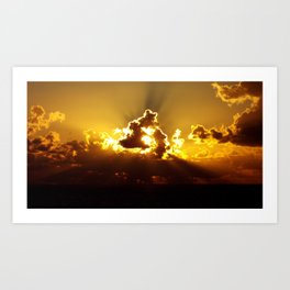 Caribbean Sunset Art Print