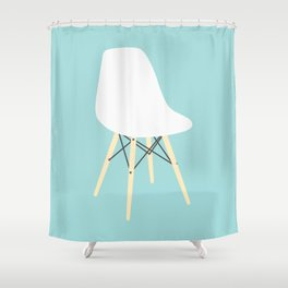 #98 Eames Chair Shower Curtain