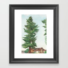 Neighbor's Tree Framed Art Print