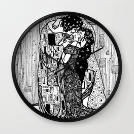 Klimt's The Kiss Wall Clock