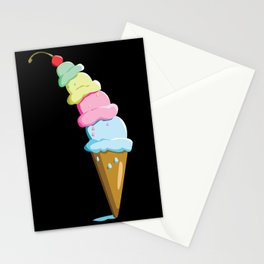 Time for Ice Cream Stationery Cards