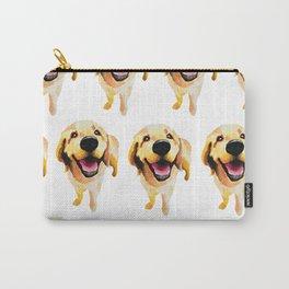 Good Boy / Yellow Labrador Retriever dog art Carry-All Pouch