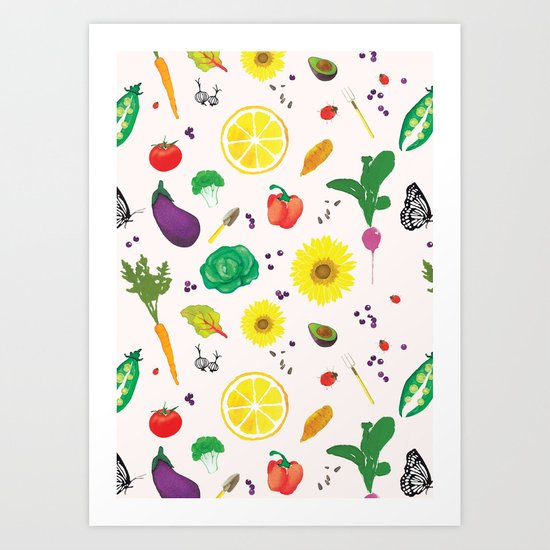 Delicious Vegetables Art Print