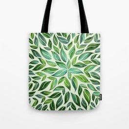 Spring Leaf Mandala Tote Bag