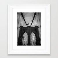 brooklyn bridge Framed Art Prints featuring Brooklyn Bridge by Nicklas Gustafsson