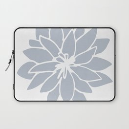 Flower Bluebell Blue on White Laptop Sleeve
