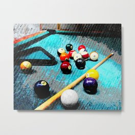 Billiard art and pool artwork 5 Metal Print