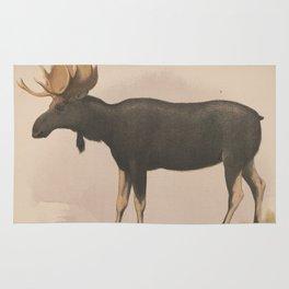 Vintage Illustration of a Moose (1874) Rug