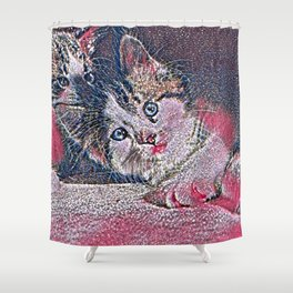 GlitzyAnimal_Cat_001_by_JAMColors Shower Curtain