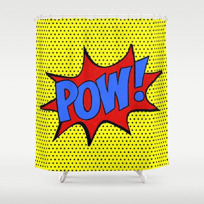 Pow! Shower Curtain