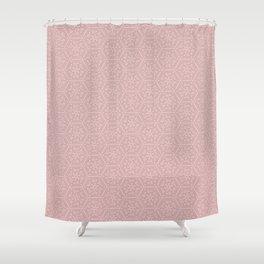 Going Round and Round - Peach Shower Curtain