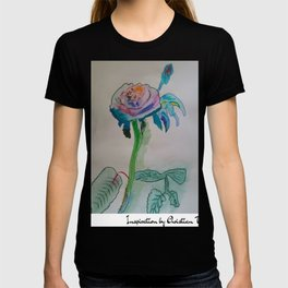 Flower rainbow inspiration modern paintings by Christian T. T-shirt